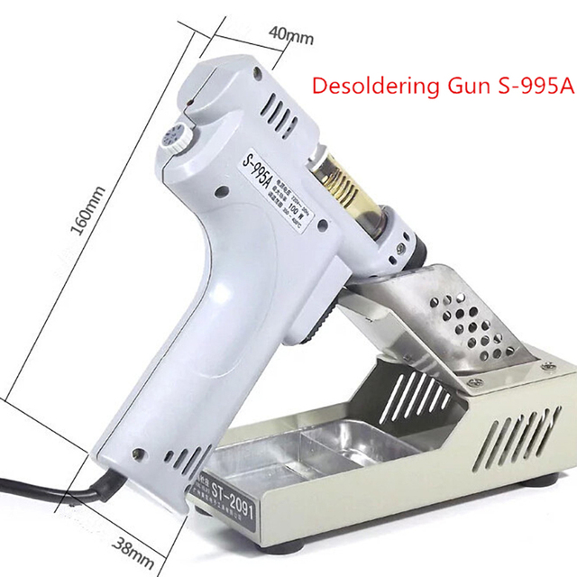 Desoldering Gun Electric Absorb Gun S-995A Electric Vacuum Desoldering Pump Solder Sucker Gun 220V 100W De-solder Gun 1