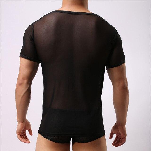 Männer Unterhemd Transparent Hemd Ärmellos T-shirt Sexy Body 2