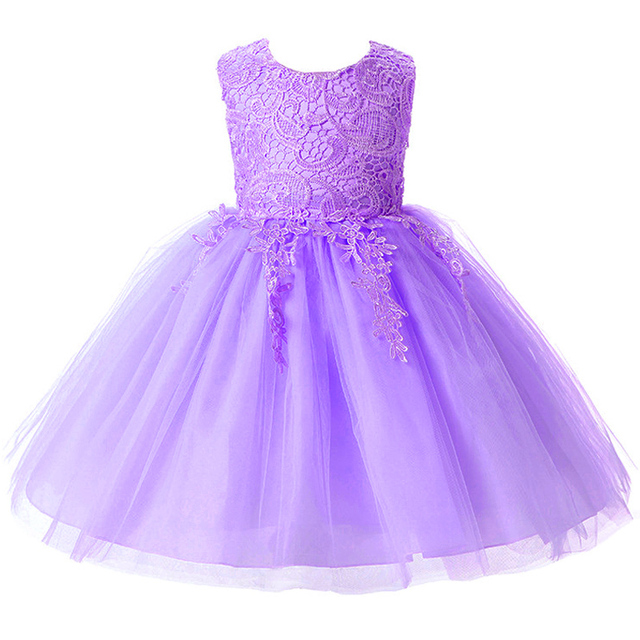 High Quality baby Lace girls dress 1-2 year old birthday dress sequin baptism christening party wedding dress for infant