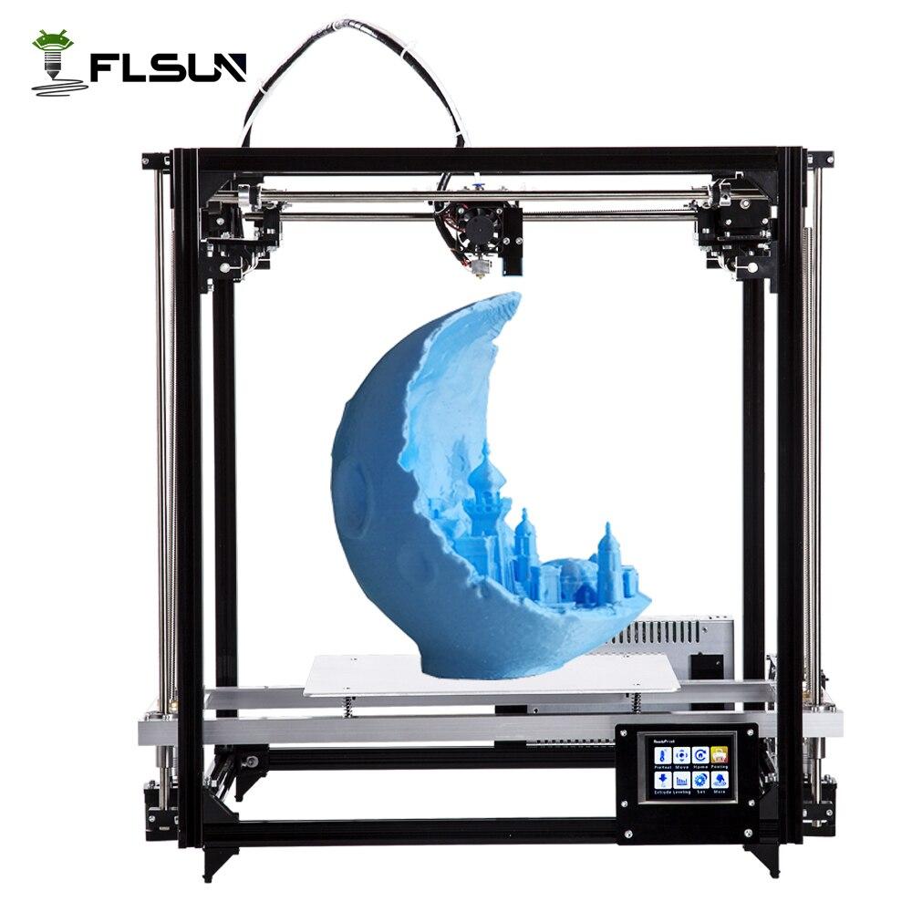 Nave Da Usa-Russo Zona di Grandi Dimensioni di Stampa 260*260*350mm 3D kit Stampante con Auto Livellamento e Riscaldato letto di Un rotolo filamento