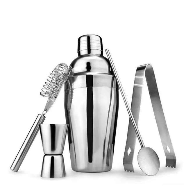 Set of 5 Stainless Steel Tools for Bartending