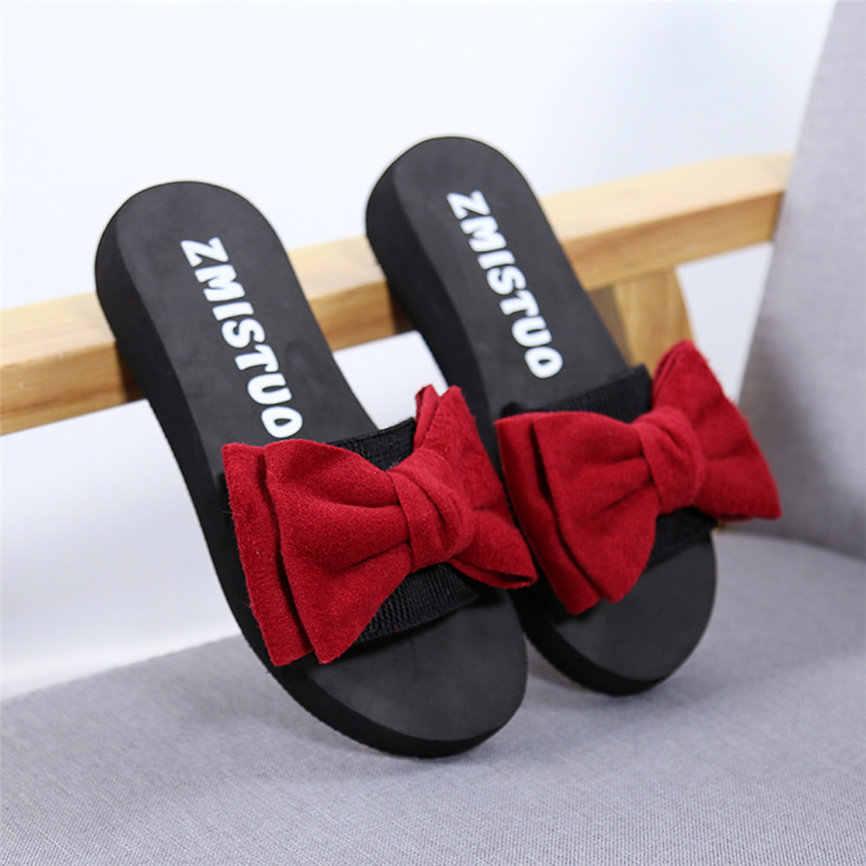Schuhe Damen Casual Frauen Bogen Sommer Sandalen Slipper Indoor Outdoor Flip-Flops Strand Schuhe Beiläufige Kurze Shose Für Frauen Mädchen