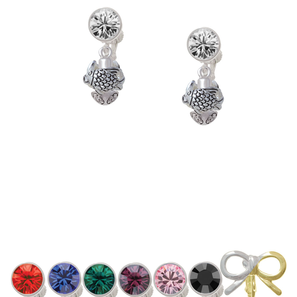 Tropical Fishes Spinner Crystal Clip On Earrings genotoxic potential in fishes