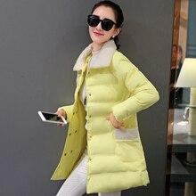 Оптовая женская хлопок под толстые теплые зимние куртки куртки стиль пуховик пальто лацканы