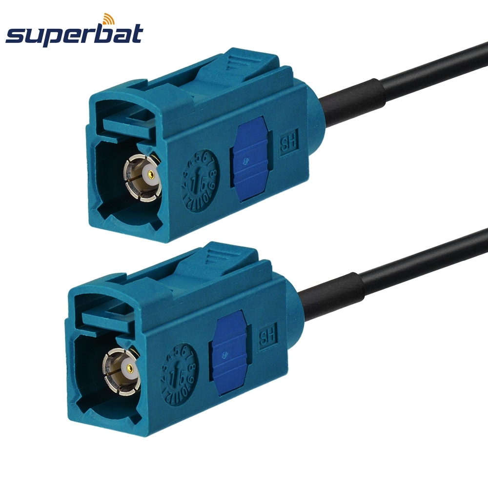 Superbat Radio Antenna Extension Coaxial Cable Straight Fakra Z Jack To Female Connector Pigtail RF Cable RG174 30cm
