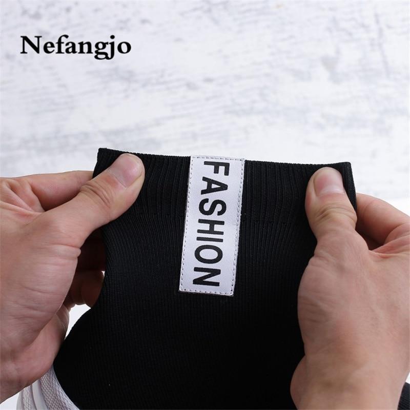 noir En Beige Hiver Sont Et Nefangjo Mode Que Respirant La Casual Sport 2018 Automne Bottes Nouveau Chaussettes Étoiles Même qBqwUApx