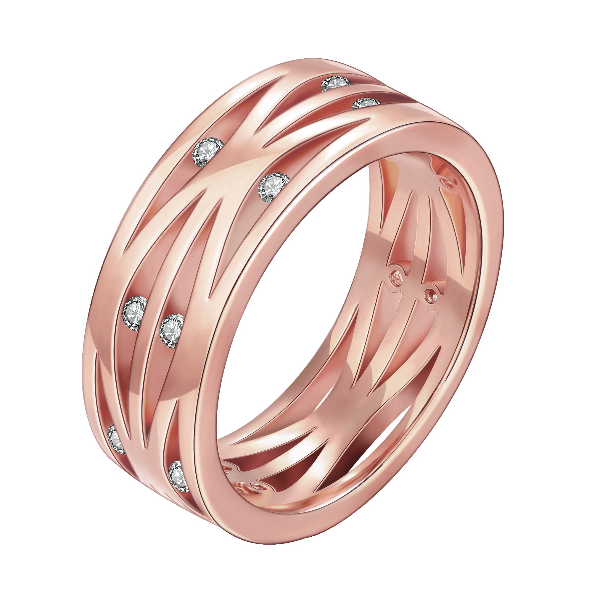 Women\'s Gold Color Finger Ring Colorful Crystal Band Round Jewelry ...