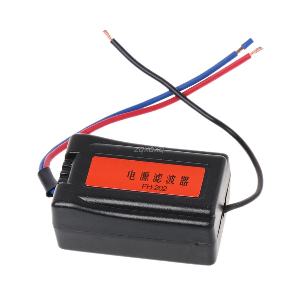 1Pc DC 12V Power Supply Pre-wired Black Plastic <font><b>Audio</b></font> Power <font><b>Filter</b></font> for <font><b>Car</b></font> VEA22P Filtering For <font><b>Audio</b></font> image