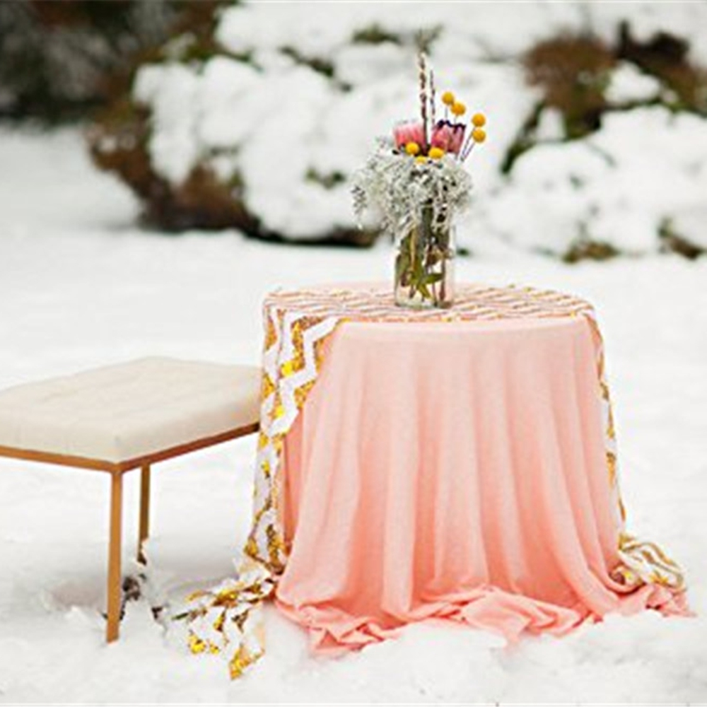 Best Selling Pink Sequin Tablecloth 50 Inches Round Sequin Wedding  Party/Prom/Christmas Table