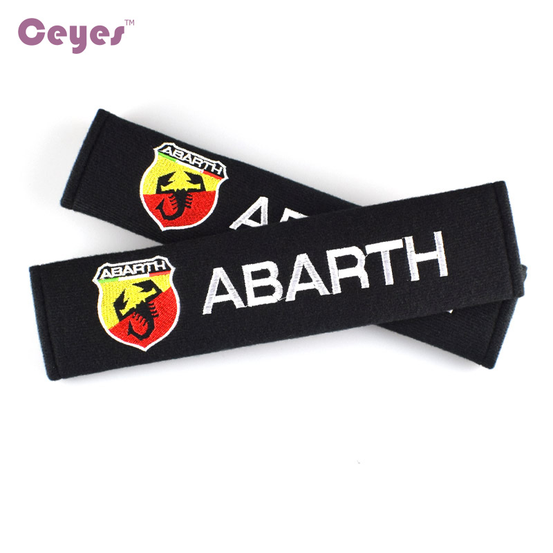Ceyes Car Styling Auto Seat Belt Cover Shoulder Case For Abarth Punto 500 124 Stilo Ducato Palio Emblems Accessories Car-Styling tyumen battery 6 ст 95ач об