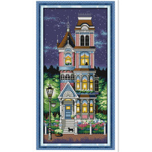 A quiet night DMC Cross Stitch cotton In 11CT 14CT DIY Needlework Counted Cross Stitch Kits For Embroidery Crafts Home Decor