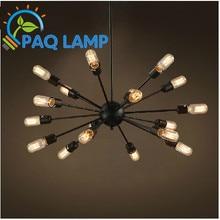 Старинные люстры освещение лампы железа пространство искусственного спутника огни с эдисон лампы кафе-бар лампы