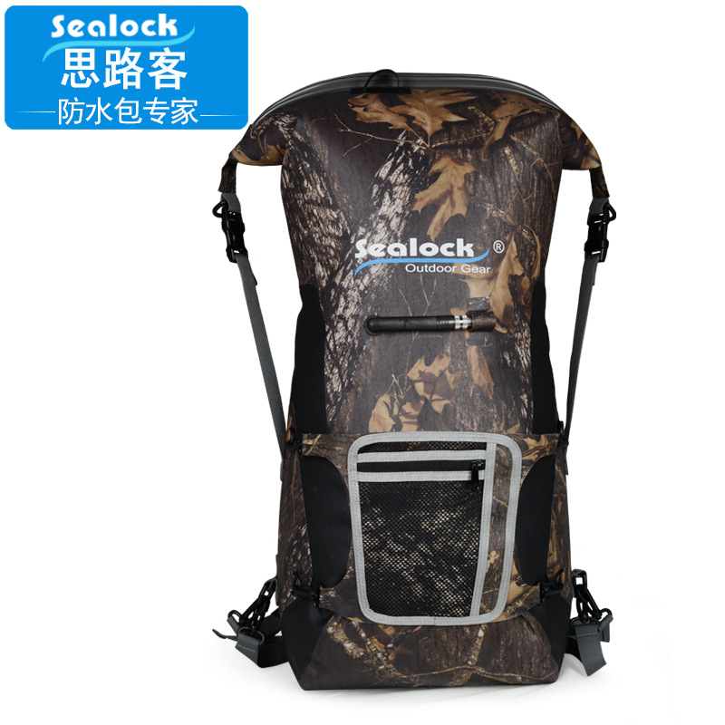 45L Airtight Waterproof Bag Drifting Rowing Boat Diving Swimming Outdoor Backpack  Nylon + TPU material  A5231 outdoor swimming beach drifting waterproof bag blue 1 5l