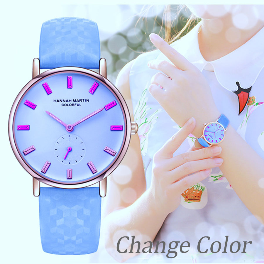 Hannah Martin Watch Women Quartz Change Color Creative Ladies Romantic Bracelet Dropshipping Hot Sale Reloj Mujer Hot QualityHannah Martin Watch Women Quartz Change Color Creative Ladies Romantic Bracelet Dropshipping Hot Sale Reloj Mujer Hot Quality