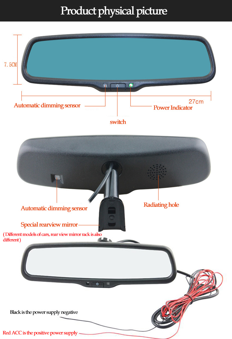 Online Clear View Special Bracket Car Electronic Auto Dimming Gm Wiring Rear Mirror No Video Input