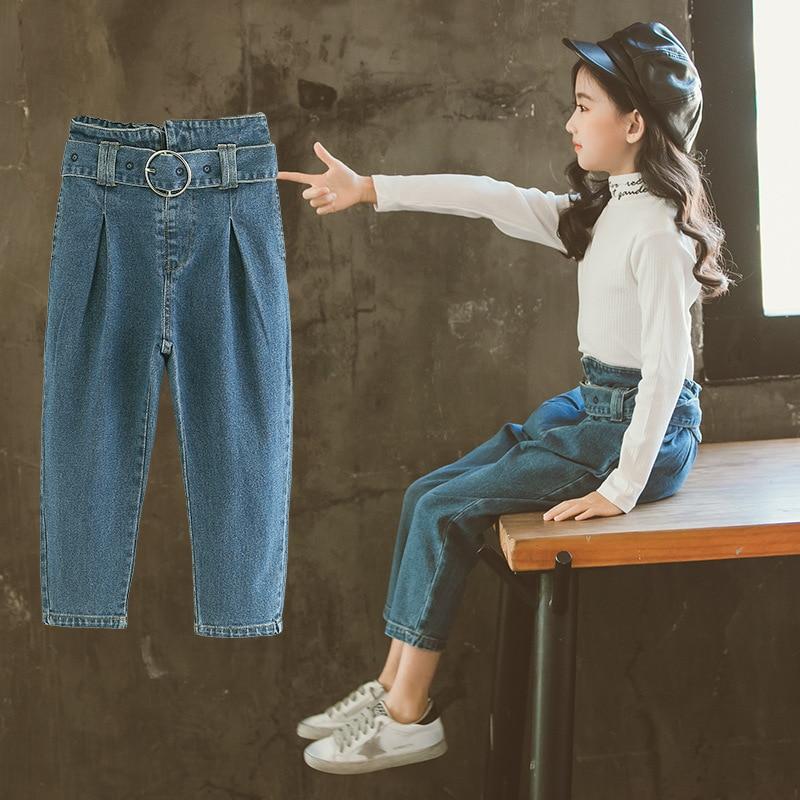 2019 Jeans High Waist Spring Kids Clothes Elastic Waist Denim Pant School Uniform Teenge Jeans Childrens Trouser Belts 10 12 142019 Jeans High Waist Spring Kids Clothes Elastic Waist Denim Pant School Uniform Teenge Jeans Childrens Trouser Belts 10 12 14