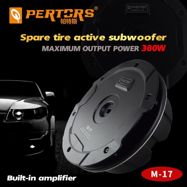 Caisson de basses de voiture, de qualité Active, sous pneu de rechange, 380W, amplificateur de puissance intégré, pour coffre de voiture, haut parleur pur