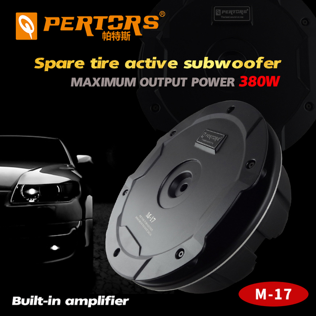 Quality Car Active Under Max 380W Spare Tire Subwoofer Built in Power Amplifier Car Trunk Tire Audio Speaker Pure Bass Woofer