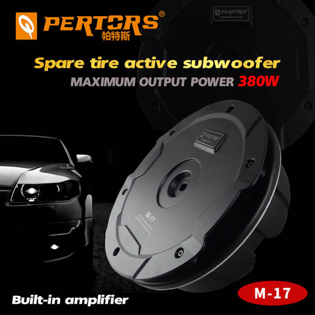 Quality Car Active Under Max 380w Spare Tire Subwoofer Built In