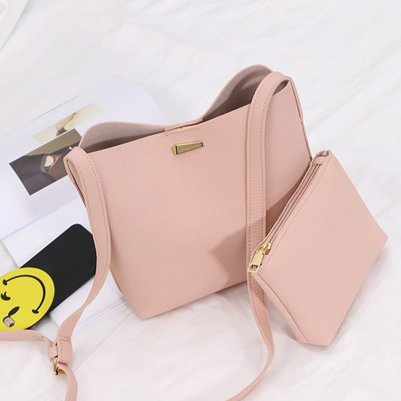 pu Leather Women Handbag Fashion Women Shoulder Bag High Quality Women Messenger Bag Medium Women Bucket bag for student  new arrive women leather bag fashion zipper handbag high quality medium solid shoulder bag summer women messenger bag