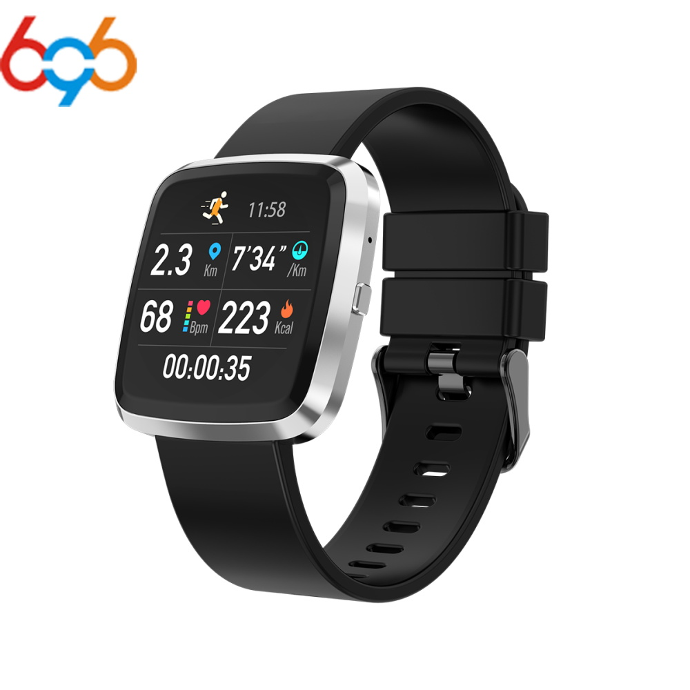 696 Smart T5 Bracelet Color Screen IP68 Fitness Tracker blood pressure Heart Rate Monitor Smart band For Android IOS phone