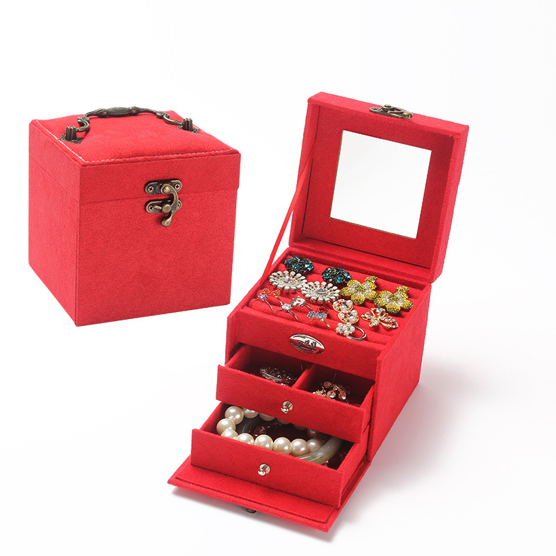 drop sell fashion jewelry box 4 color birthday wedding valentine gifts girls grown up gifts womens day gifts jewel box in jewelry packaging