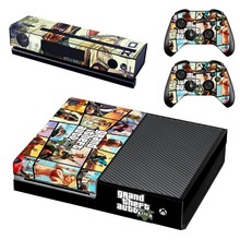 GTA5 Style Vinyl Skin Sticker Cover For Xbox ONE Console with 2 Controllers Protective Skin Decal For Xbox One Gamepad