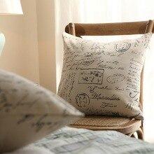 цены на Hot Pillowcase Nodic Style Geometric Print Cotton Square Pillow Case Cushion Cover Waist Sofa Livingroom Home Office Decorative  в интернет-магазинах