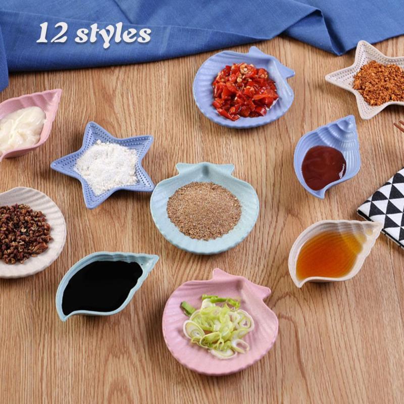 Creative Cute Star Shell Starfish Shape Kitchen Spice Plate Food Dish Cook Food Organizer Decoration Dishes