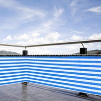 Home Balcony Privacy Screen With Grommets Fence Deck Shade Sail Yard Cover Anti UV Sunblock Wind Protection