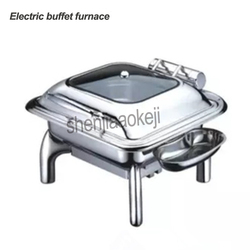 220v 400w Electric heating round Buffet stove Restaurant Square food Insulation furnace Commercial Stainless steel buffet stove