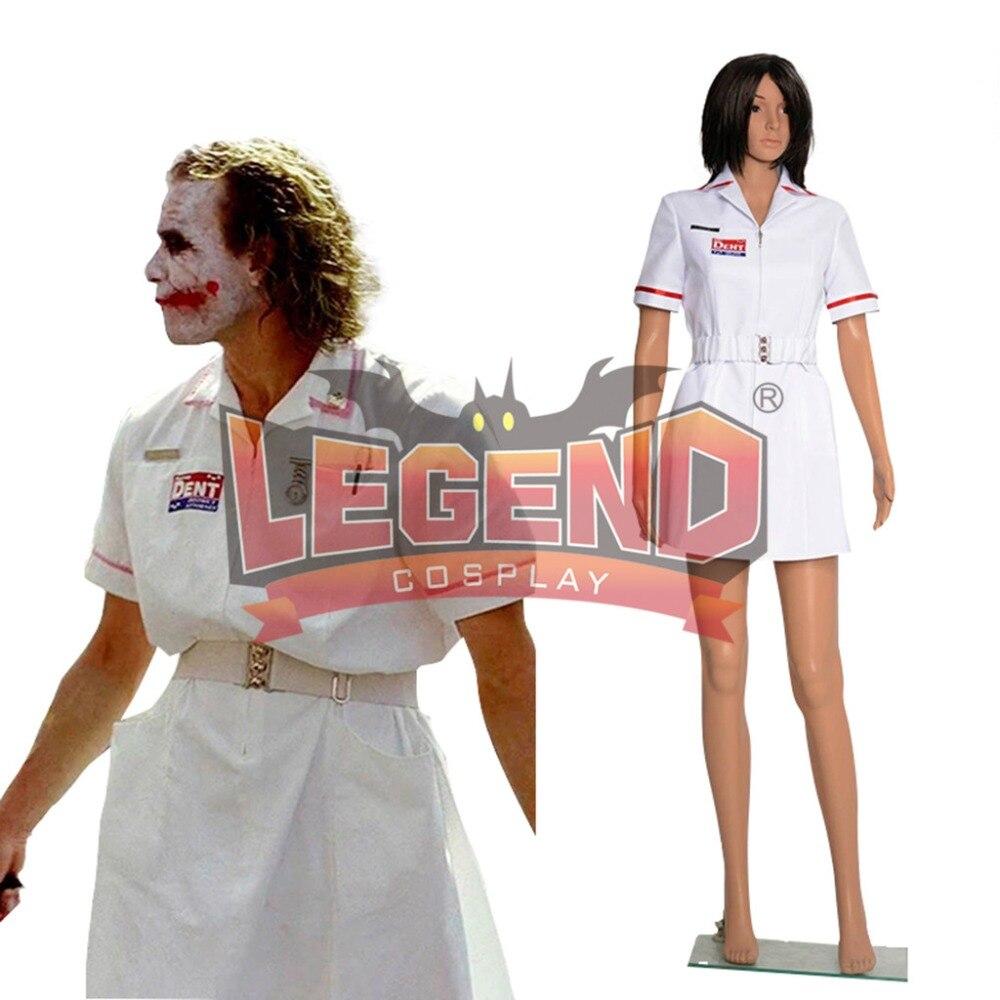 Joker infirmière robe uniforme blanche Costume Cosplay