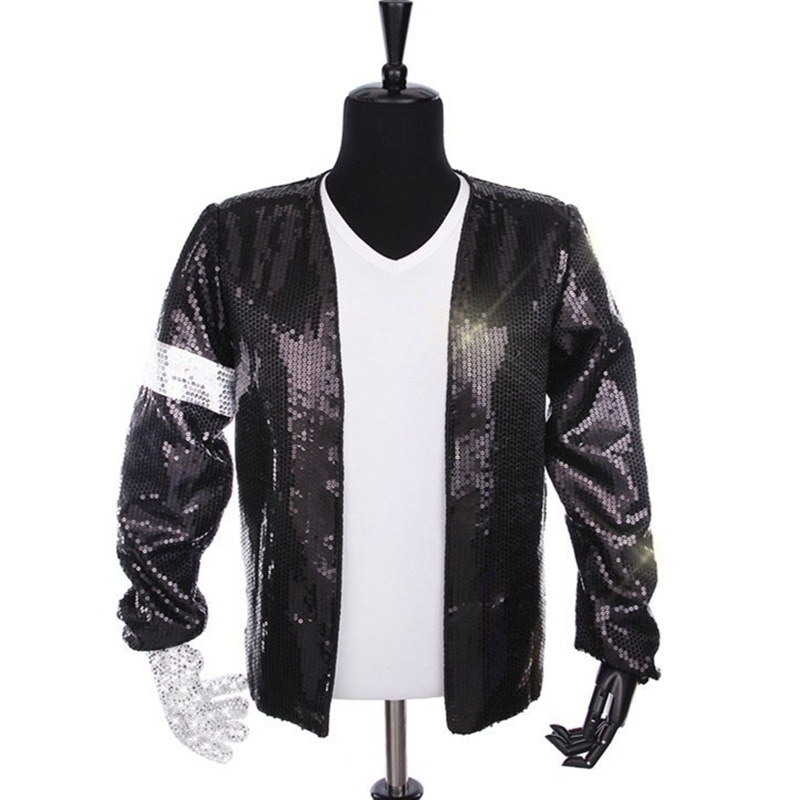 Rare Classic Cosplay MJ Michael Jackson Billie Jean Giacca T Shirt Guanto  Prestazioni Cappello Collection in Rare Classic Cosplay MJ Michael Jackson  Billie ... 600af1363c6d