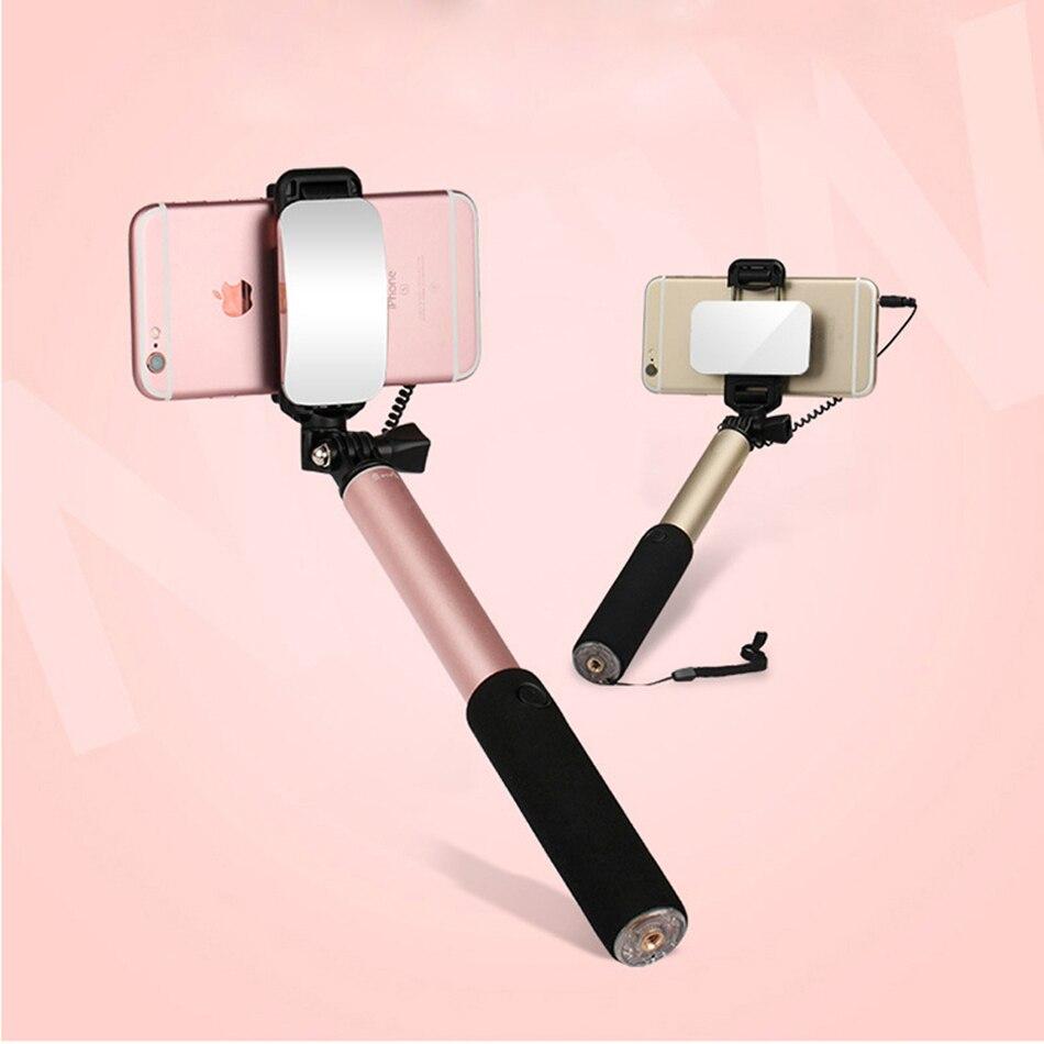 Perche Pal Tige Pau De Auto Palo Selfie Bâton Pour Android iPhone Samsung Universal Avec Miroir Bouton Mobile Manfrotto Selfipalka