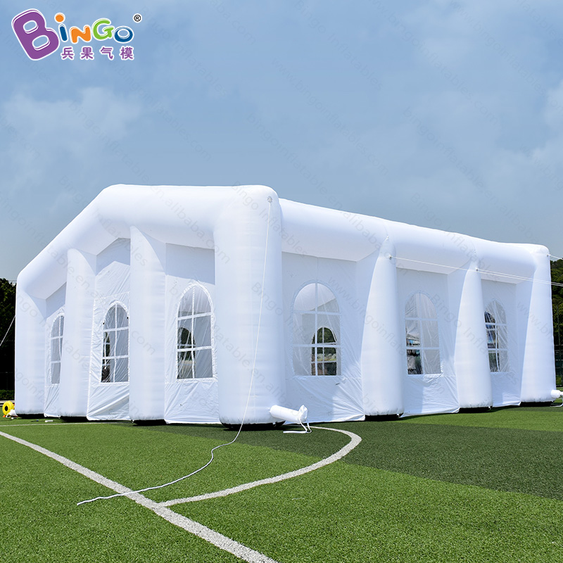 Free Shipping 10X10X5 Meters white color gaint inflatable tent advertising events blow up part tent toy tent free shipping inflatable house shaped cube tent with window for events toy tent