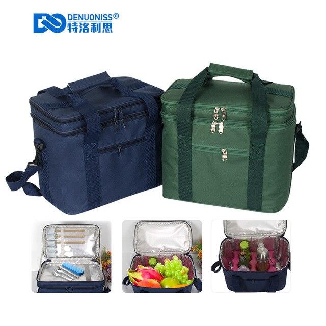 Grande saco de Ombro Piquenique Cesta Refrigerador Ao Ar Livre Caixa de visita auto-condução Viagem De Acampamento Do Piquenique Isolados Saco borsa Gi frigo a096
