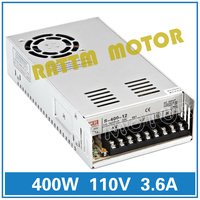 400W 110V Switch Power supply DC power S 400 110 3.6A CNC Router Single Output Foaming Mill Cut Laser Engraver Plasma