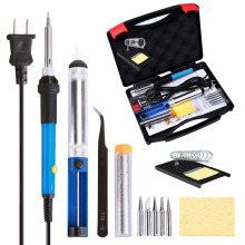 Adjustable Temperature Soldering Iron Kit, 60W, 220/110V, EU/US plug.