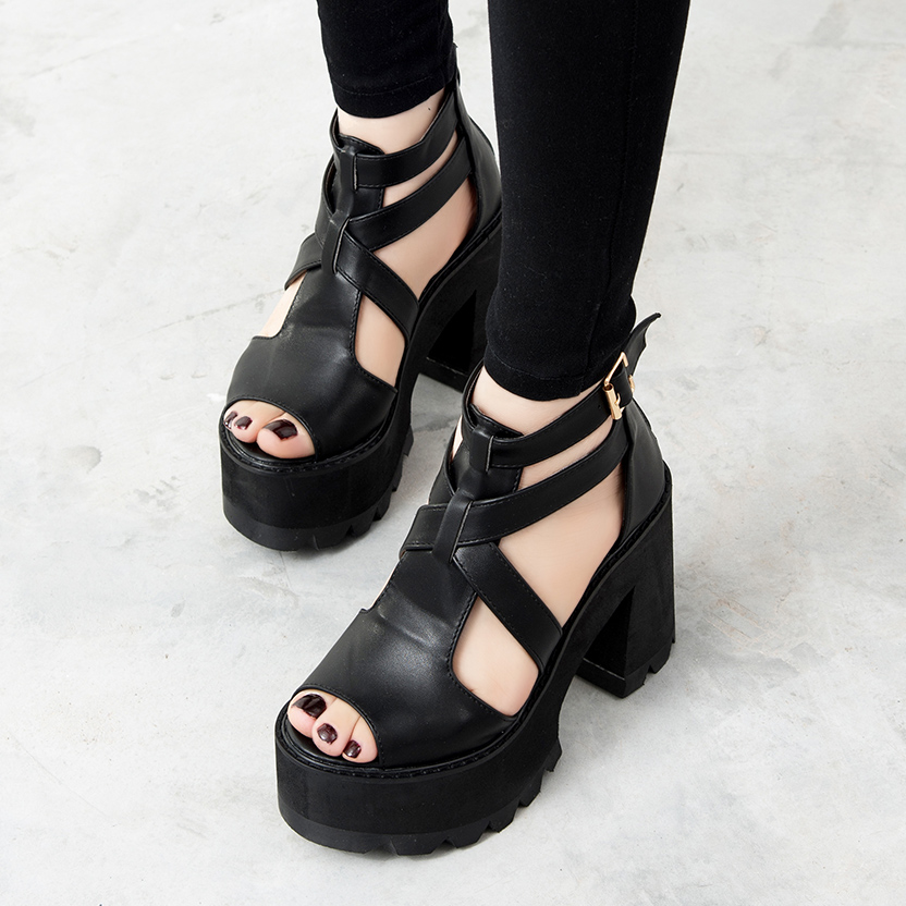 women sandals platform shoes strappy sandals gladiator shoes peep toe high heels sandale wedge sandals women summer shoes D443