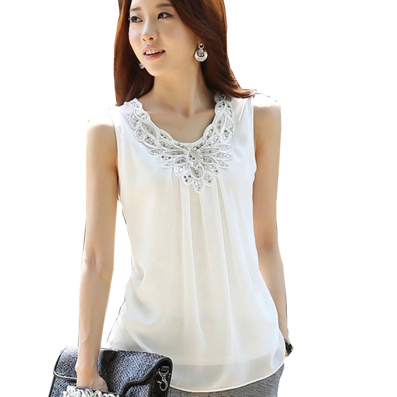 plus size women clothes women tops Women Blouses 2018 Summer Chiffon white shirt blusas y camisas mujer Sleevele ladies blouses