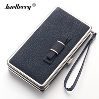 Baellerry New 2017 Luxury Design Women Wallet Metal Side Leather Mobile Phone Case Bag Bow Money