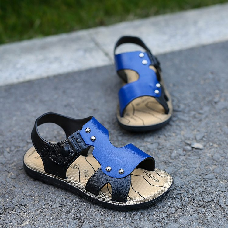 2018 new Korean summer childrens sandals boys baby beach shoes Older child kids sandals factory direct
