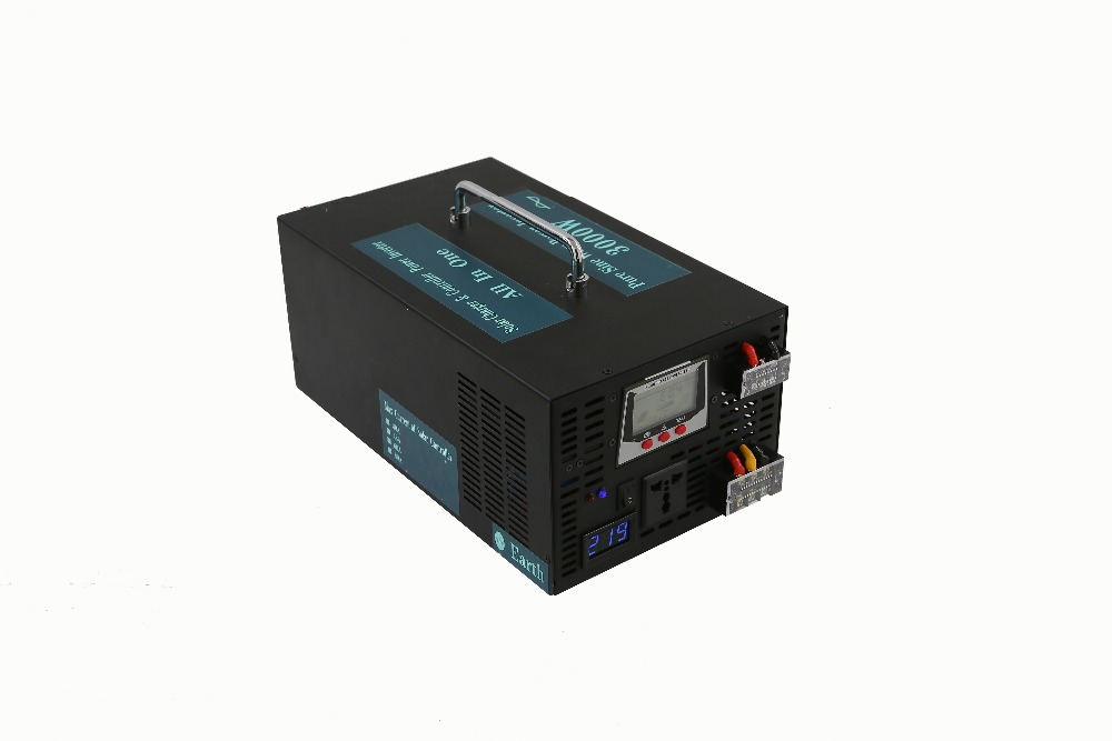 цена на New Product, Multifunction 3000W Off Grid Pure Sine Wave Inverter With Solar Charger Car Power Inverter 3000W LCD Display