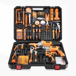 Wielofunkcyjny zestaw narzędzi wiertarka elektryczna narzędzia gospodarstwa domowego zestaw narzędzi konserwacyjnych sprzęt elektryk narzędzie do drewna zestaw YK 966 w Zestawy narzędzi ręcznych od Narzędzia na
