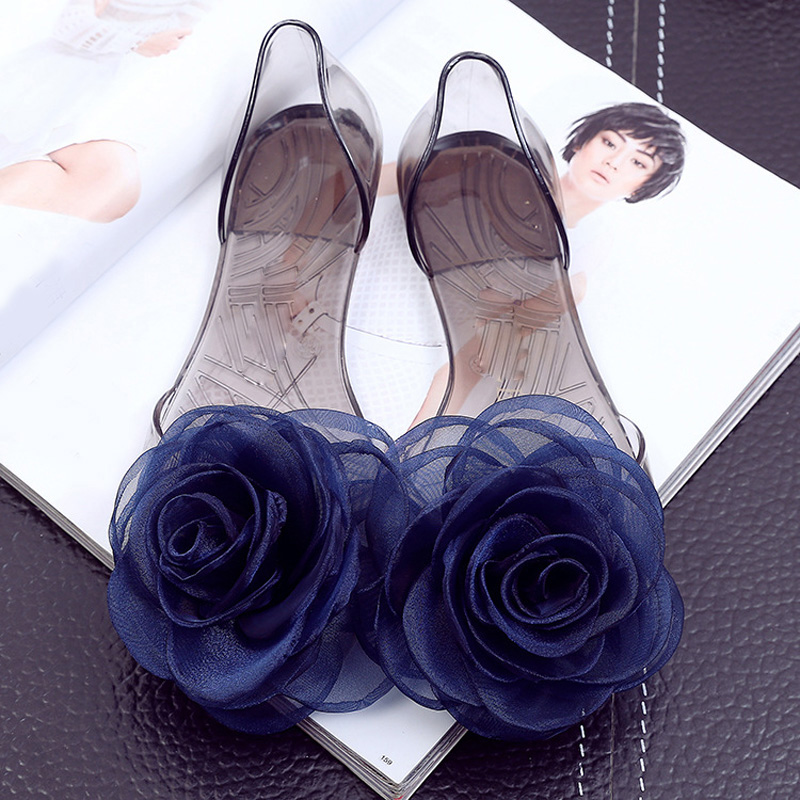 d7f7cec18dda3 Sweet Flowers Lady Jelly Shoes Women Sandals Flat Summer Shoes Woman Casual Flats  Shoes Sandalias Mujer WSH2057-in Women s Sandals from Shoes on ...