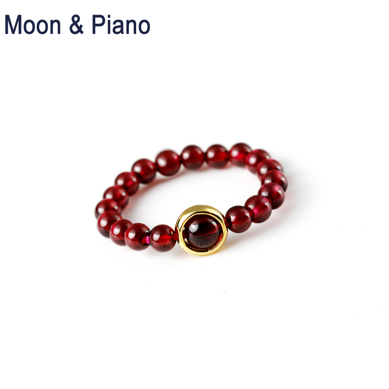 Natural  Red Garnet Ring 925 Sterling Silver Noble Women High Quality Fine Jewelry  Promise Rings Party Wedding Nice Gift