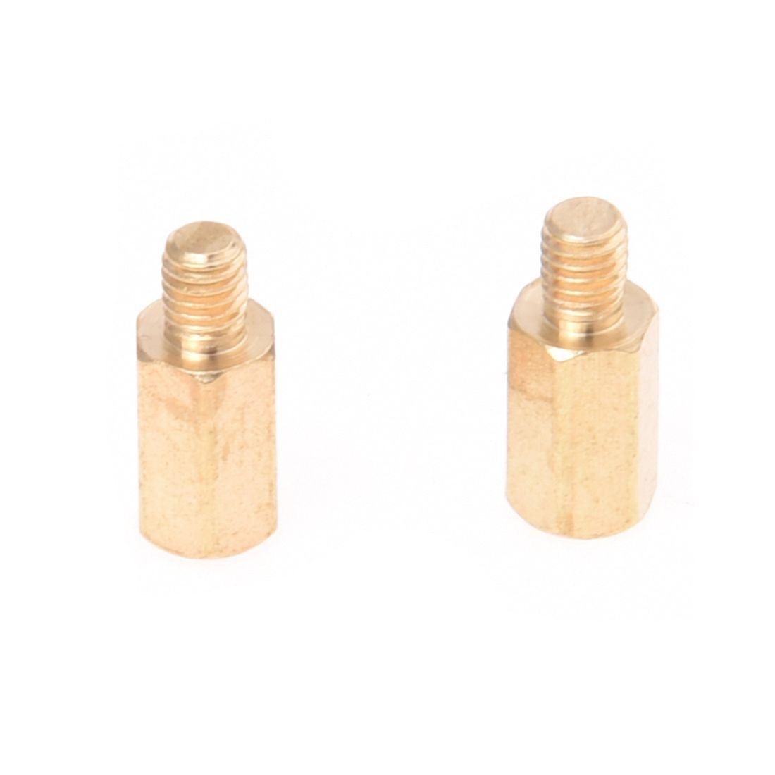 M5-5mm HEX NUT BRASS METRIC HEXAGONAL FULL NUTS DIN 934 FS1585
