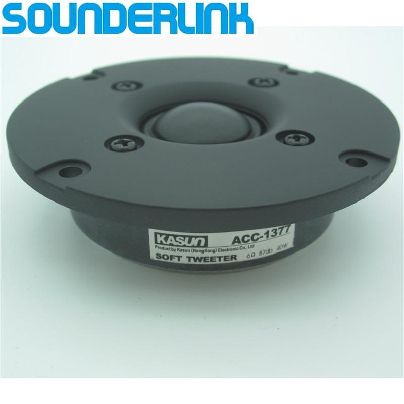 2Pcs Lot Kasun HiFi Sill Soft Dome Tweeter Superb Speaker Driver Unit 3 Inch 80MM Panel 6Ohm