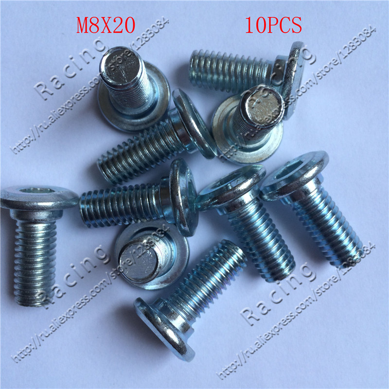 цена на 10pcs/lot Screw Bolt M8*20 For Brake Disc Plate Dirt Pit Bike Fit For Chinese Kayo 160 Motocross Motorcycle CRF KLX BSE