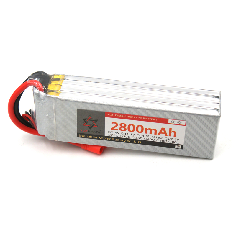 <font><b>4s</b></font> 14.8v <font><b>2800mAh</b></font> <font><b>Lipo</b></font> Battery RC Car Plane Boat Lithium Ion Polymer Battery For Truck Tank Drone Helicopter image